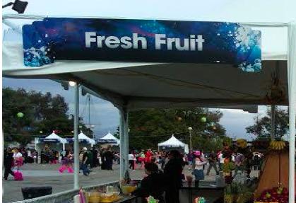 Festival fruit stand